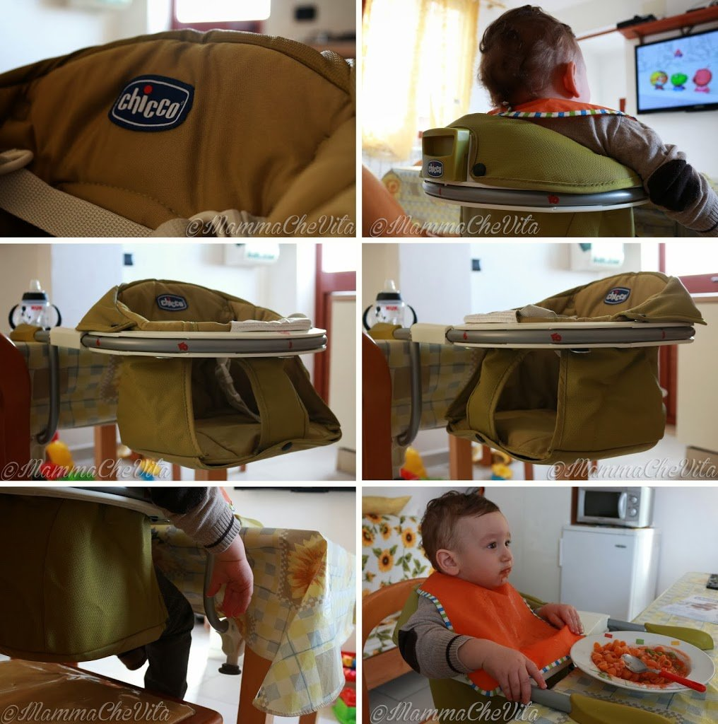 Chicco chicco 360 seggiolino da tavolo mammachevita for Tavolo giardino delle parole chicco