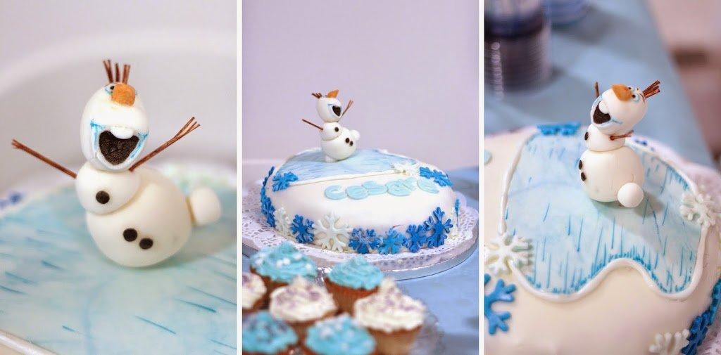 Olaf in pasta di zucchero