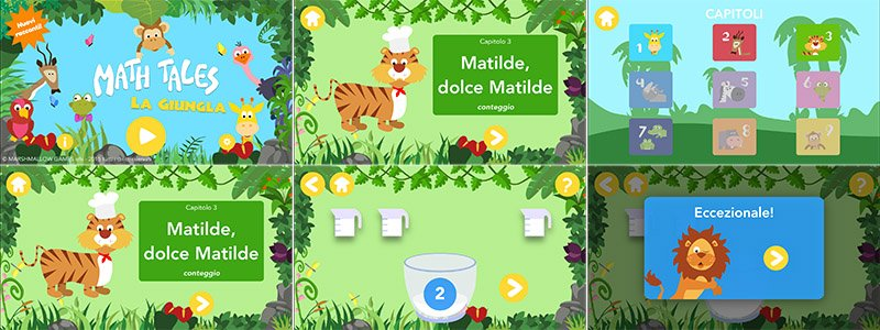 Istantanee app Maths tales La Giungla