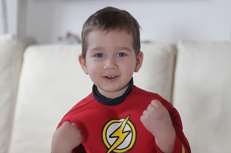 Costume di carnevale per bambini flash
