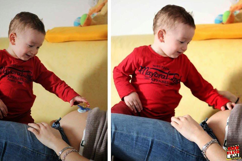 Quinto mese di gravidanza arriva il fratellino