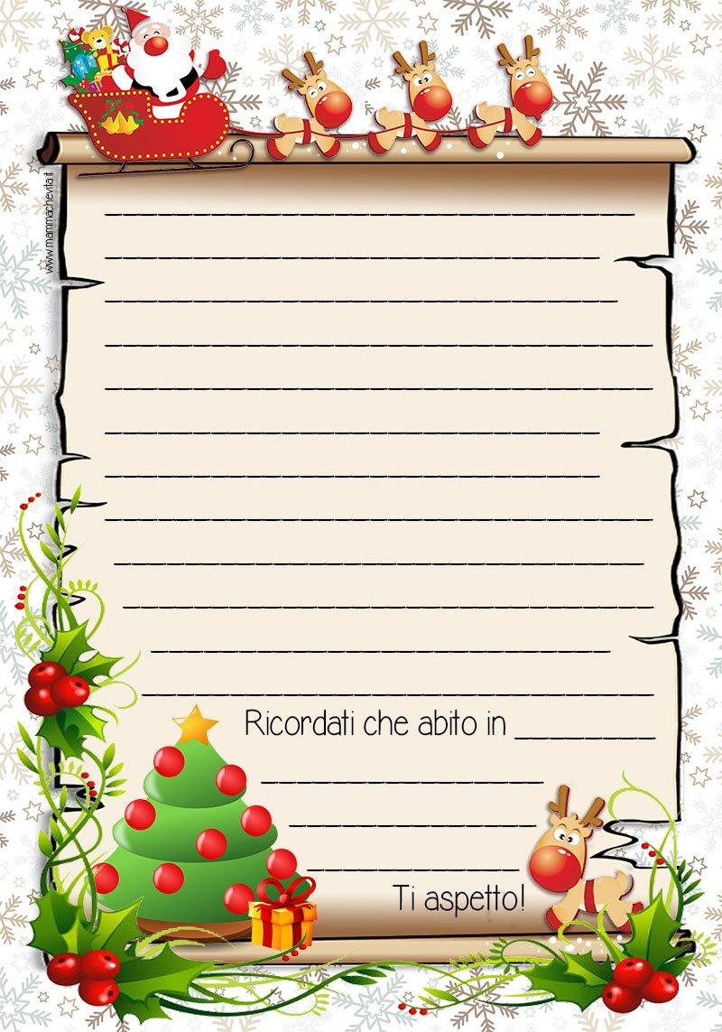 Lettera Babbo Natale Colorata Blog Mammachevita